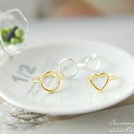 [JiHaesu戒指]★银★苗条线戒指