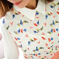 星光一滴(小鸟图案衬衫)