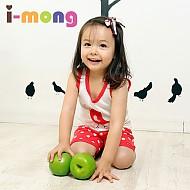 夏季新款 韩国正品 室内服 红鸟图案 儿童套装