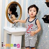 夏季新款 韩国正品 室内服 船舶图案 儿童套装
