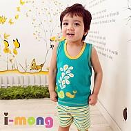 夏季新款 韩国正品 室内服  海豚朋友图案 儿童套装