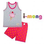 夏季新款 韩国正品 室内服  冰淇淋图案 儿童套装