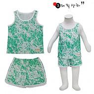 夏季新款 韩国正品  无袖花纹 儿童套装
