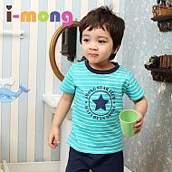 夏季新款 韩国正品  室内服 海蓝军可爱明星 儿童套装