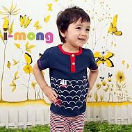 夏季新款 韩国正品  室内服 海上旅行 儿童套装