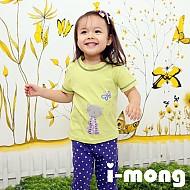 夏季新款 韩国正品  室内服 蝴蝶与猫眯图案 儿童套装