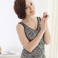 韩国正品塑身隆胸豹纹款人娟内衣