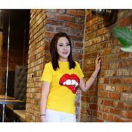 韩国进口纯棉嘴唇图案T恤