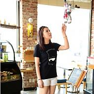 韩国进口纯棉可爱男孩图案t恤