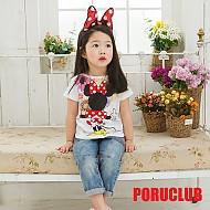 韩国正品米老鼠背影酷T恤