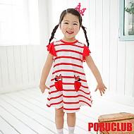 韩国正品精美口袋连衣裙